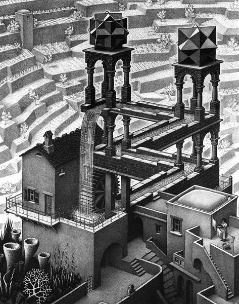 Waterfall - M.C. Escher