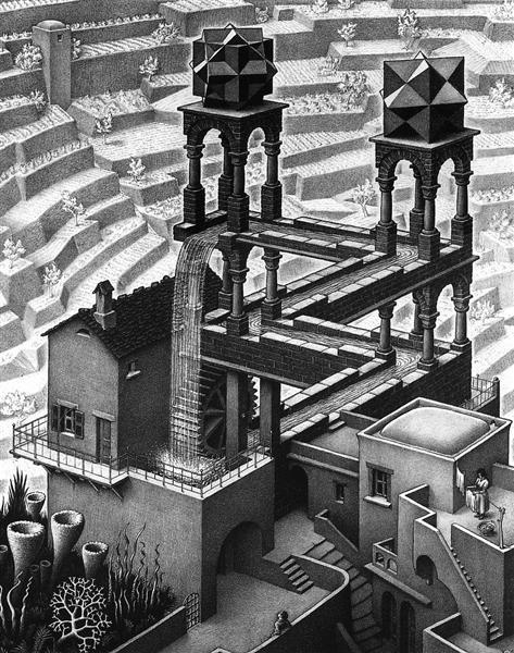 Waterfall - Escher M.C.