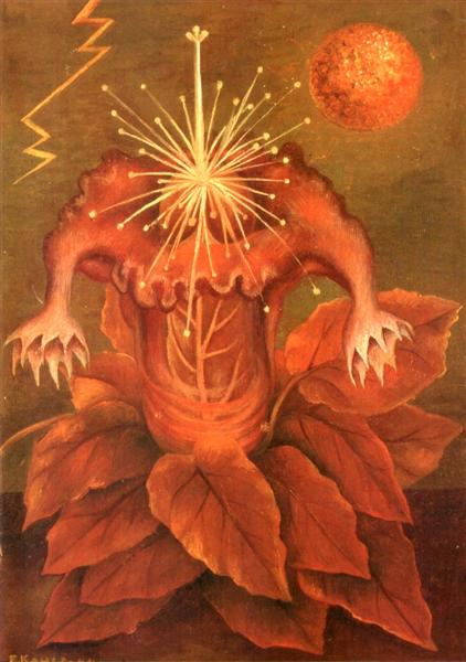 Flower of Life (Flame Flower), 1943 - Frida Kahlo