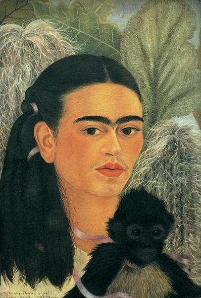 Fulang-Chang and I, 1937 - Frida Kahlo
