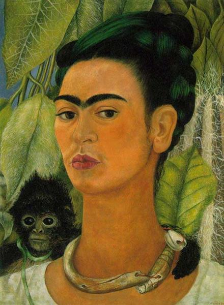 Self Portrait with a Monkey, 1938 - Frida Kahlo