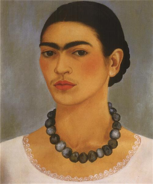 Self Portrait with Necklace, 1933 - Frida Kahlo