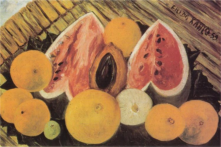 Still Life with Watermelons, 1953 - Frida Kahlo