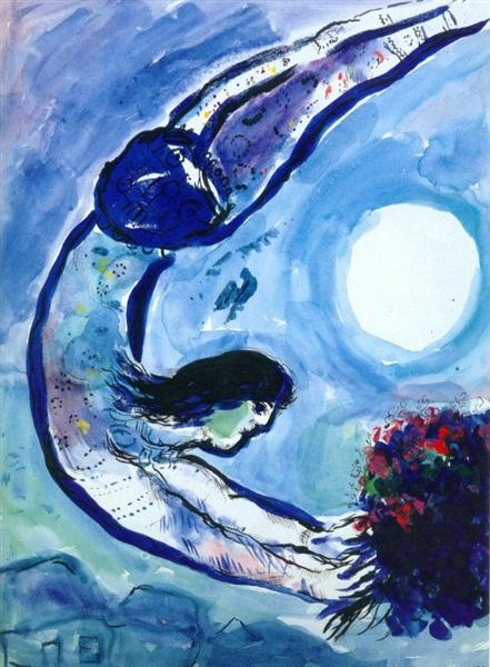 Acrobat With Bouquet 1963 Marc Chagall Wikiart Org