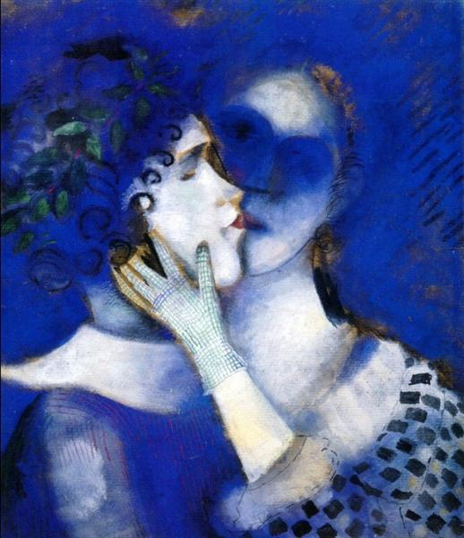 Blue Lovers, 1914 - Marc Chagall