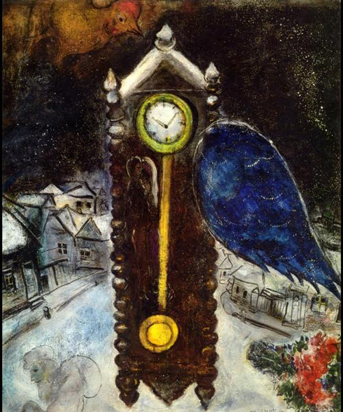 Clock with Blue Wing, 1949 - Marc Chagall