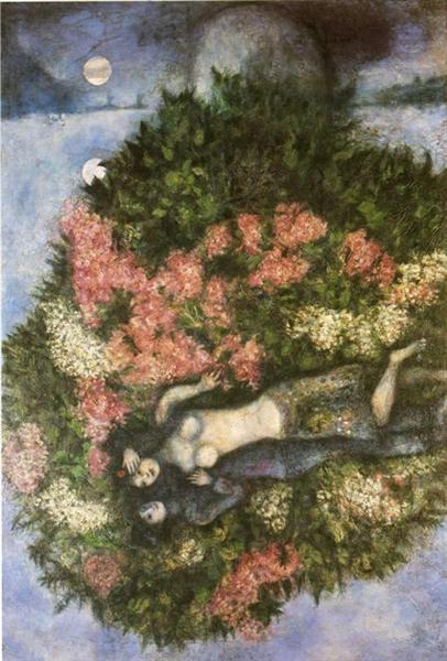Lovers in the Lilacs, 1930 - Marc Chagall