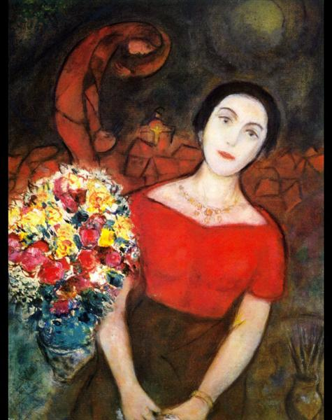Portrait of Vava, c.1955 - Marc Chagall