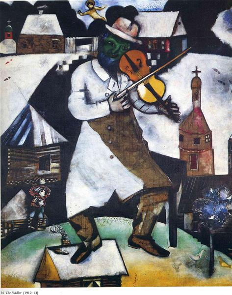 The Fiddler, 1913 - Marc Chagall