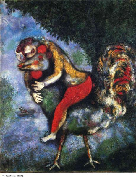 The Rooster, 1929 - Marc Chagall