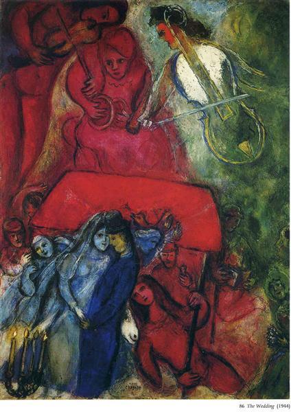 The Wedding, 1944 - Marc Chagall