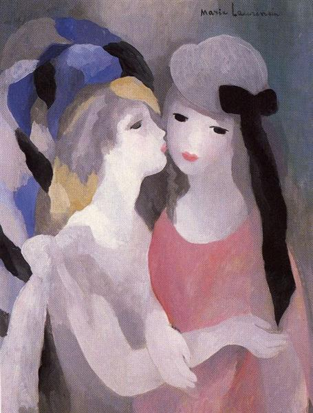 The Kiss, 1927 - Marie Laurencin