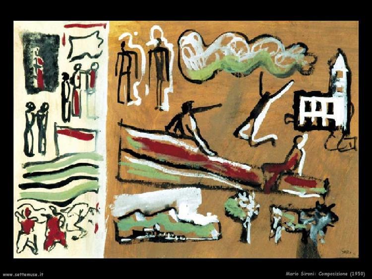 Composition, 1950 - Mario Sironi