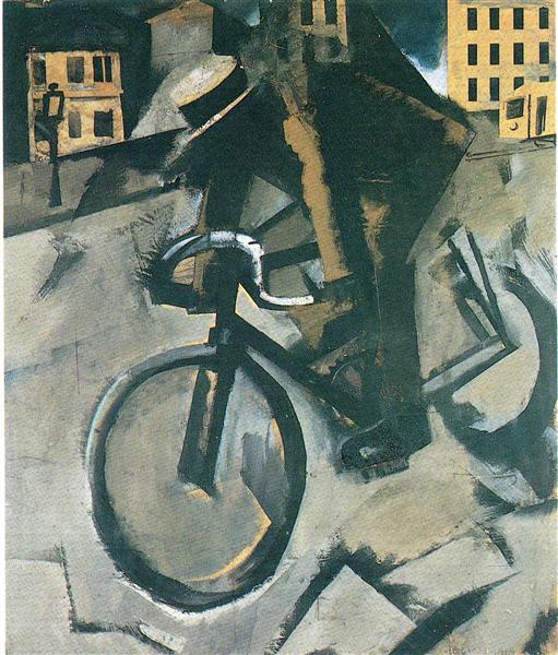 The Cyclist, 1916 - Mario Sironi