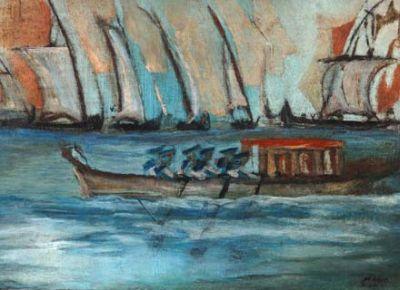 Barco com marinheiros, 1950 - Mario Zanini