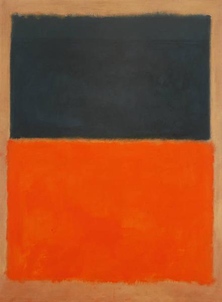 Green and Tangerine on Red, 1956 - Mark Rothko