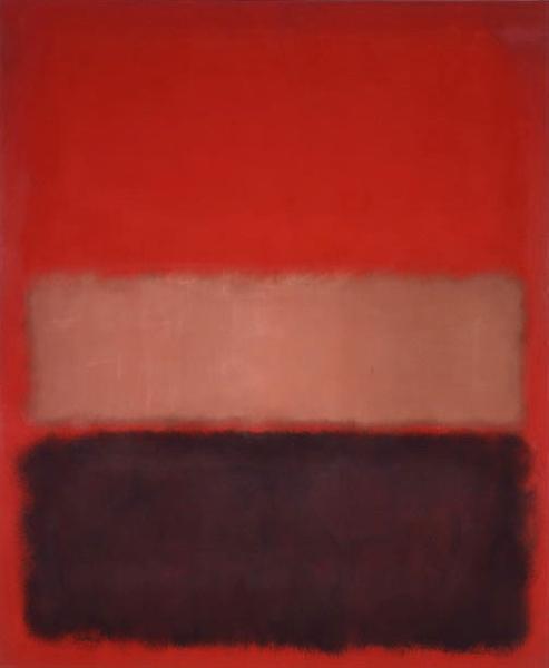 No. 46 (Black, Ochre, Red Over Red), 1957 - Mark Rothko