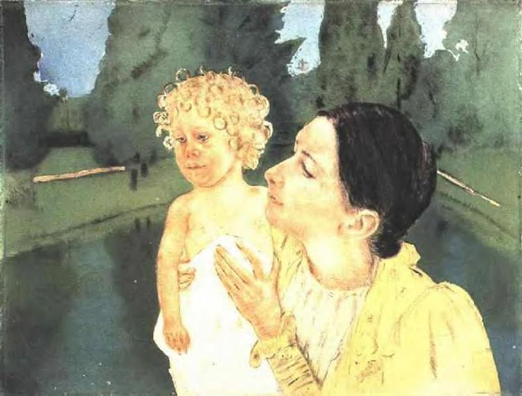 By the Pond, 1898 - Mary Cassatt