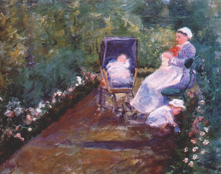 Children in a Garden, 1878 - Mary Cassatt