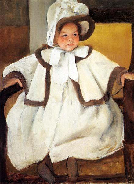 Ellen Mary Cassatt In A White Coat, c.1896 - Mary Cassatt