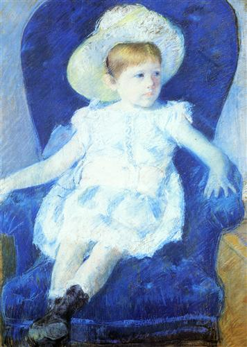 Elsie in a Blue Chair - Mary Cassatt