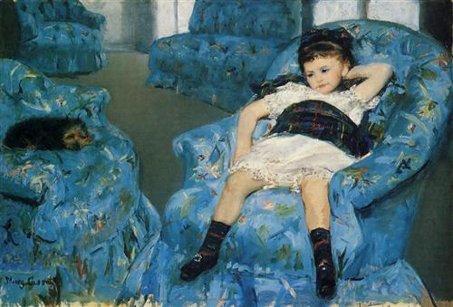 Little Girl in a Blue Armchair - Mary Cassatt