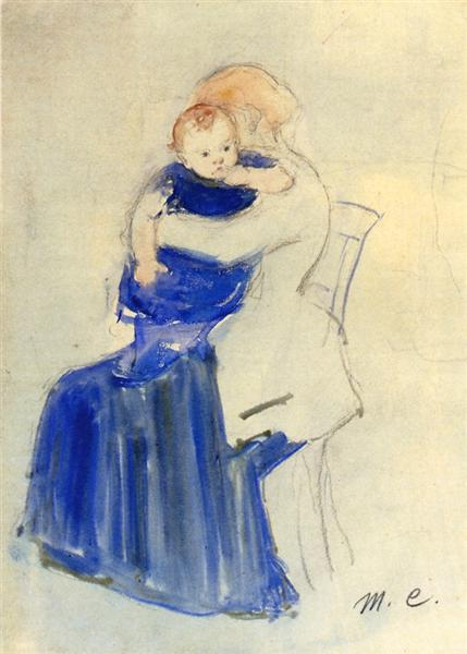 Mother and Child, c.1889 - Mary Cassatt