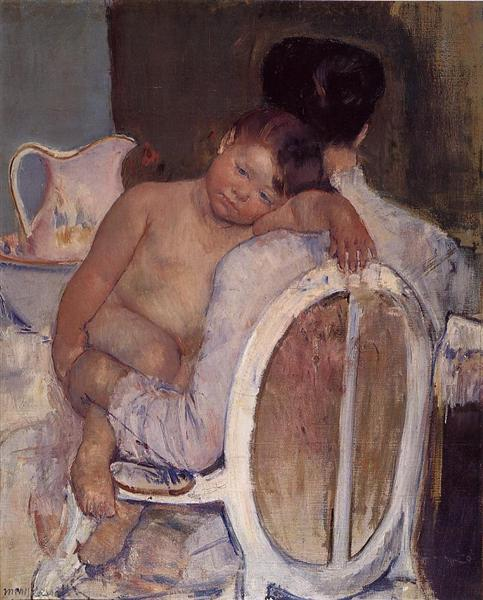 Mother Holding a Child in Her arms, c.1890 - Mary Cassatt