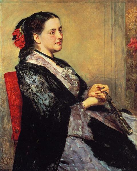 Portrait of a Lady of Seville, 1873 - Mary Cassatt