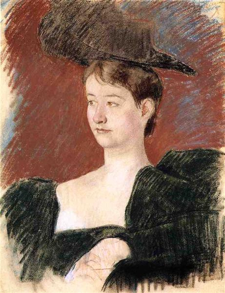 Portrait of a Young Woman in Green, c.1898 - Mary Cassatt