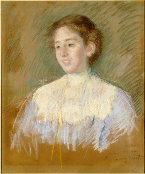 Portrait of Madame Alfred Lavergne, born Magdalena Mellon, 1902 - 1905 - Mary Cassatt