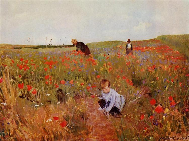 Red poppies, 1874 - 1880 - Mary Cassatt