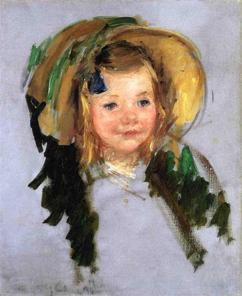 Sara in a Bonnet - Mary Cassatt