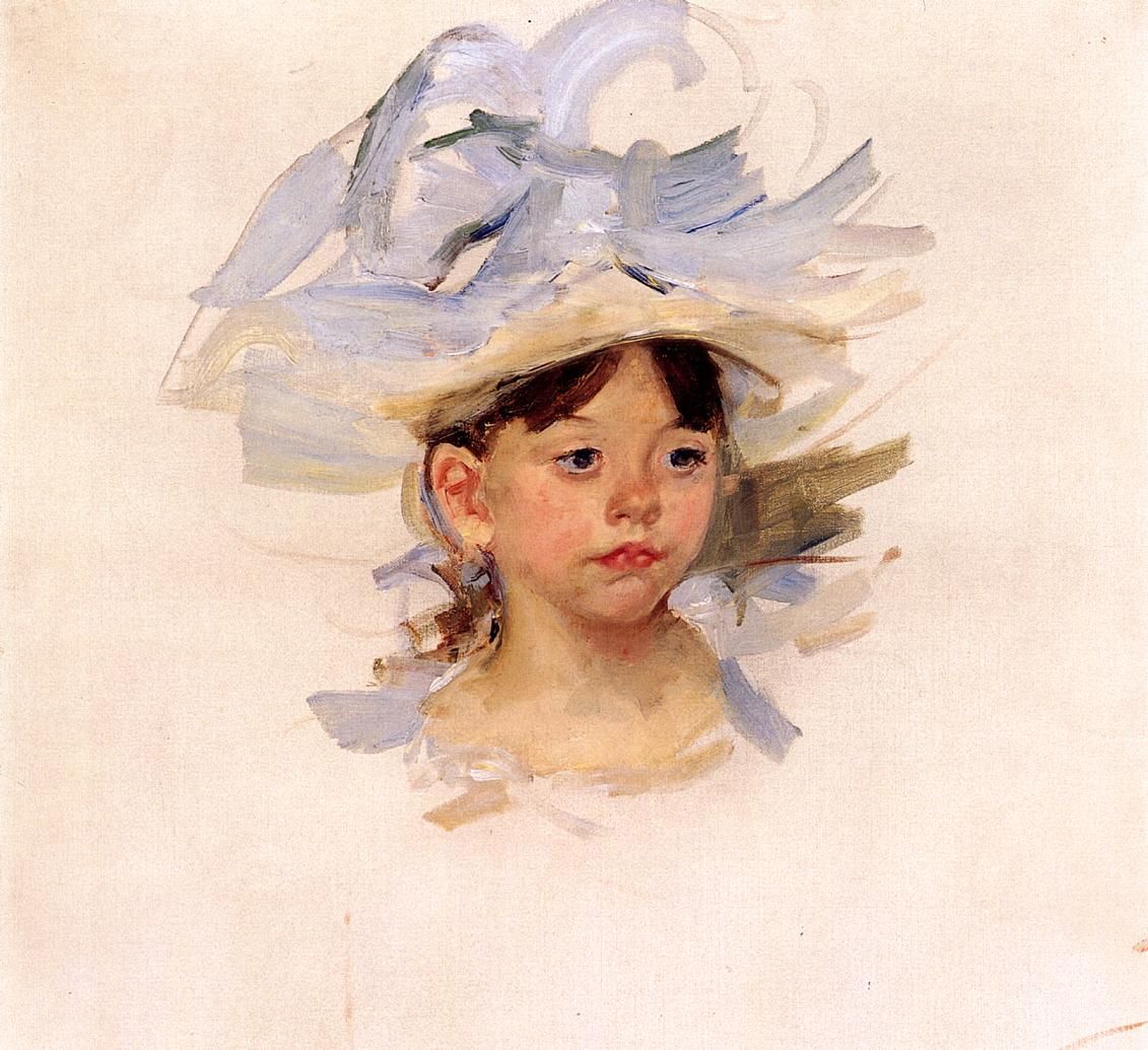 Sketch of Ellen My Cassatt in a Big Blue Hat, c.1905 - Mary ...