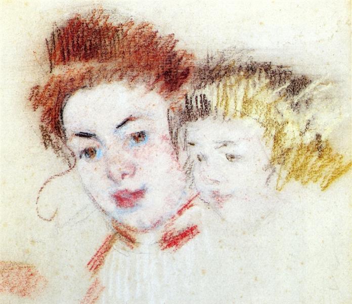 Sketch of Reine and Child, c.1902 - Mary Cassatt