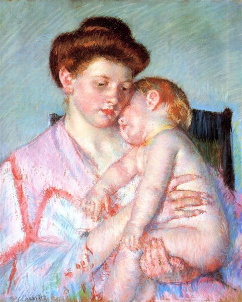 Sleepy Baby, 1910 - Mary Cassatt