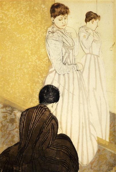 The Fitting, 1891 - Mary Cassatt