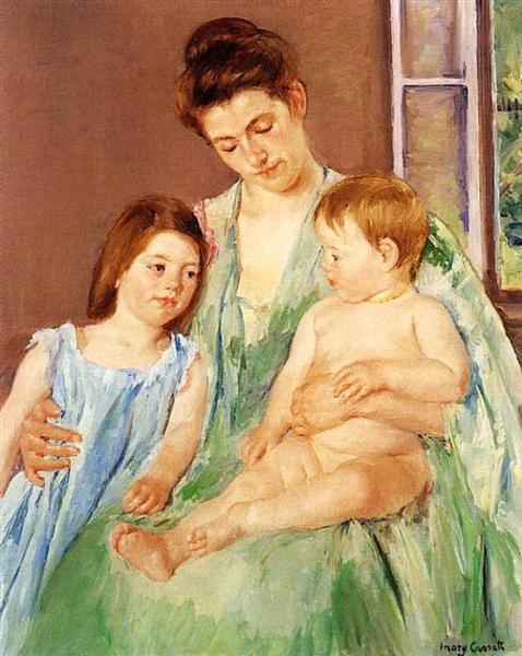 Young Mother and Two Children, 1905 - Mary Cassatt