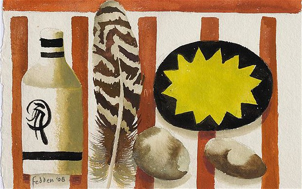 Feather and two stones, 2008 - Mary Fedden