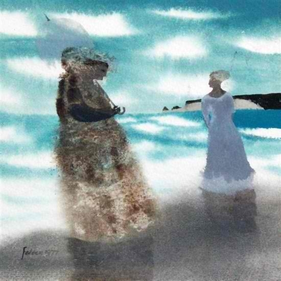 Two women on the shore, 1977 - Mary Fedden