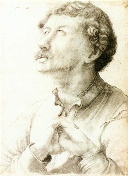 Man Looking Up, 1523 - 1524 - Matthias Grünewald