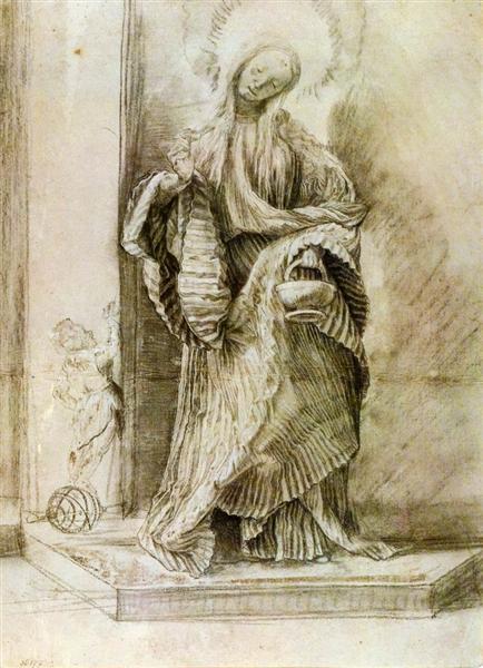 St. Dorothy with the Basket of Flowers, c.1520 - Matthias Grünewald