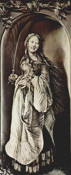 St. Lucy (c.283-c.304), c.1509 - c.1511 - Matthias Grünewald