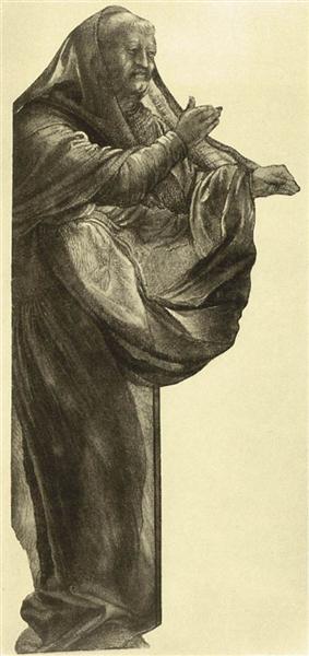 Study of an Apostle, c.1511 - Matthias Grünewald