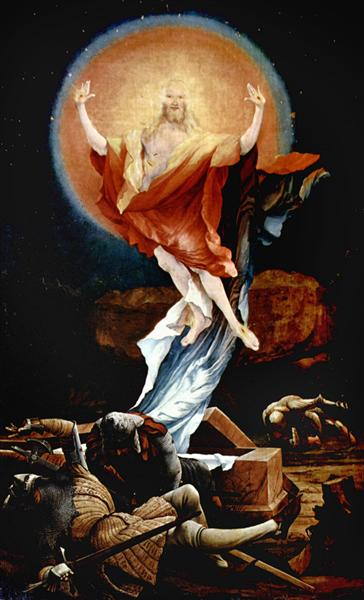The Resurrection of Christ (right wing of the Isenheim Altarpiece), c.1512 - c.1516 - Matthias Grünewald