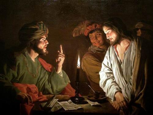 Christ before Caiaphas - Matthias Stom
