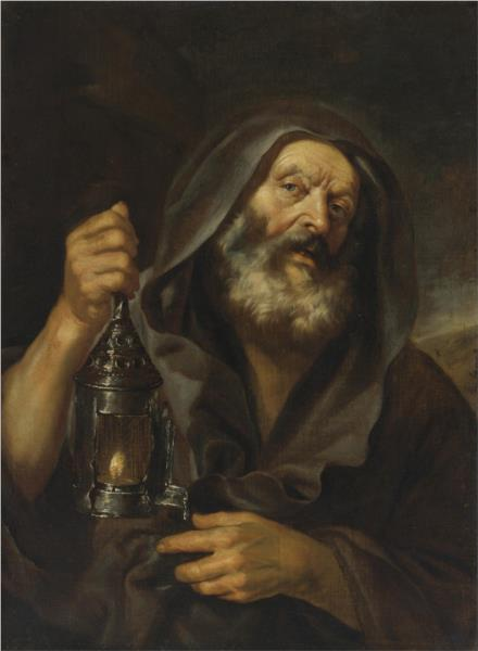 Diogenes in search of an honest man - NYPL Digital Collections