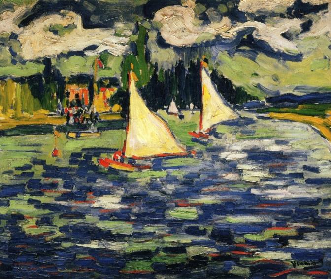 Sailboats at Chatou, 1905 - Maurice de Vlaminck