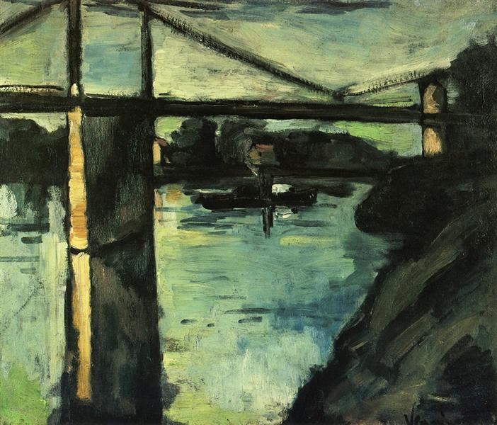 The Pont de Chatou, 1908 - Maurice de Vlaminck