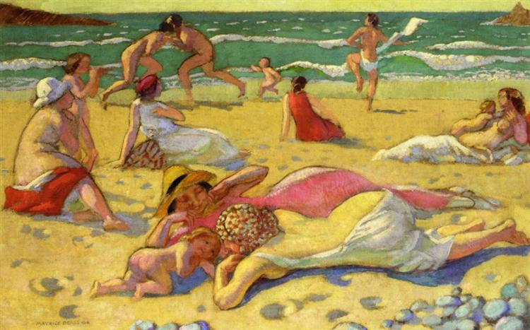 Games in the Sand (also known as Beach with Fighters) - Maurice Denis